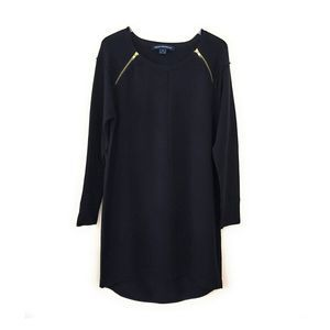 French Connection Black Oversized Sweater Dress M